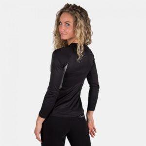 Bluză fitness cu mânecă lungă Mineola gri dama