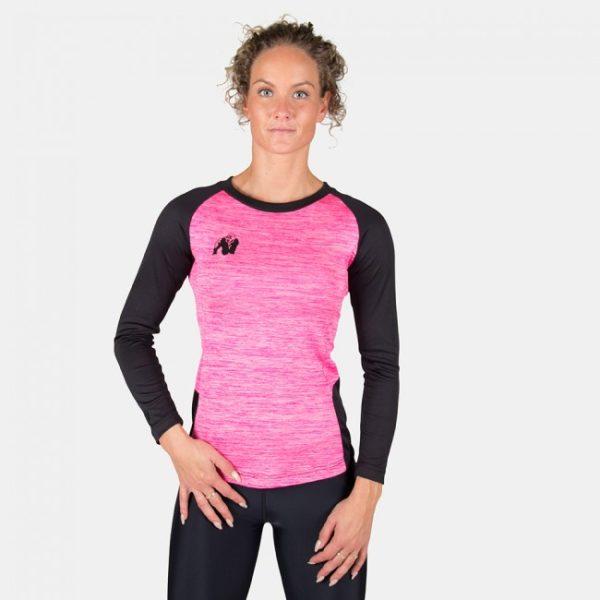 Bluza Fitness Femei Mineola cu maneci lungi roz