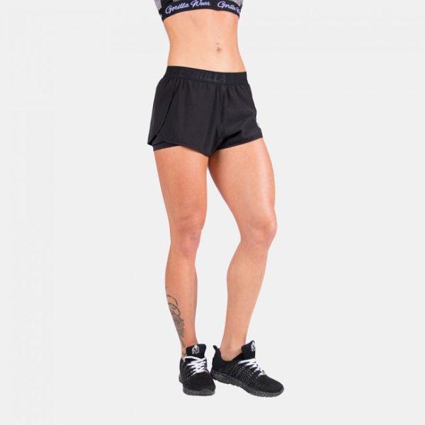 Pantaloni scurti femei negri - sala fitness antrenament 3