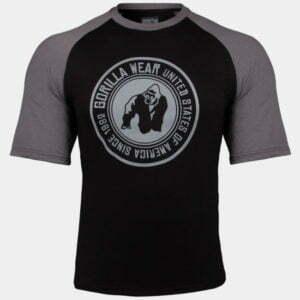 Tricou Antrenament Texas - Negru cu Gri - Fitness & Bodybuilding
