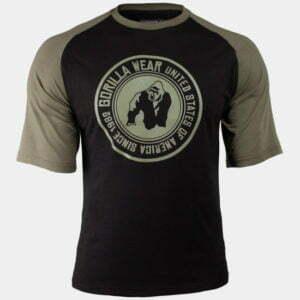Tricou Fiteness Texas - Negru cu Verde Militar - Antreneaza-te cu GorillaWear