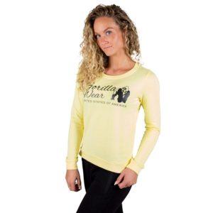 Bluza fitness femei galbena