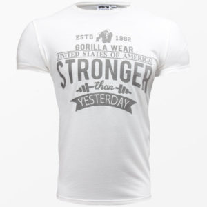 Tricou alb hobbs gorillawear - Echipamente fitness barbati