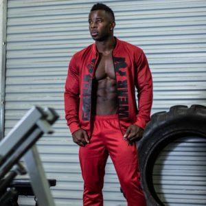 Jacheta Fitness Barbati Gorilla Wear Sala Ballinger - Rosu-Negru