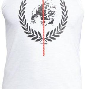 Maiou Barbati Rock Hill Fitness - Alb cu logo