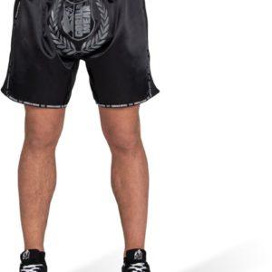 Pantaloni Kickboxing Barbati Murdo Muay Thai - Negri cu insertii