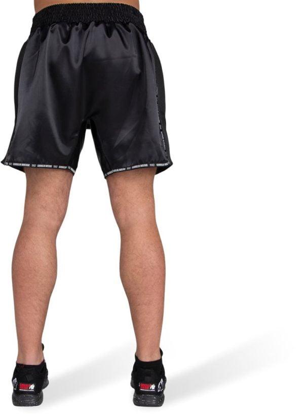 Pantaloni Kickboxing Barbati Murdo Muay Thai - Negri cu logo GW