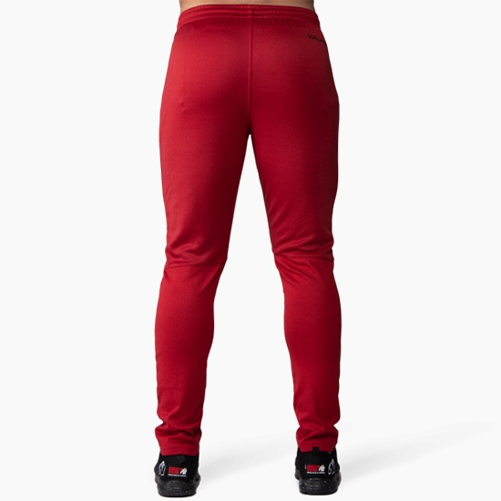 Pantaloni Trening Barbati Alergare Ballinger - Roșu cu Negru - Gorilla Wear