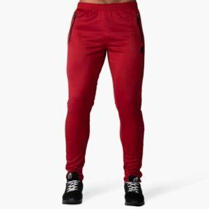 Pantaloni Trening Barbati Fitness - Sport Ballinger - Roșu cu Negru - Gorilla Wear