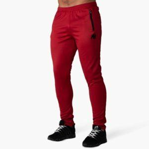 Pantaloni Trening Barbati Sala Ballinger - Roșu cu Negru - Gorilla Wear