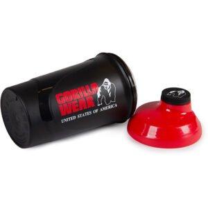Shaker Fitness 600ML Negru Rosu