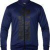 Jacheta Ballinger - Albastru cu insertii negre - Gorilla Wear Romania Hanorace Barbati Fitness