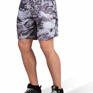 Pantaloni Scurti Barbati Kansas - Negru-Gri Camuflaj - Echipamente fitness
