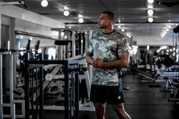 Pantaloni Scurti Negri Barbati kansas - Pantaloni fitness scurti