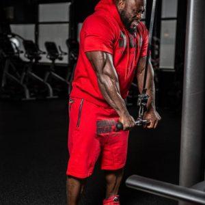 Pantaloni Scurti cu Tur Alabama Rosii - Echipamente fitness barbati