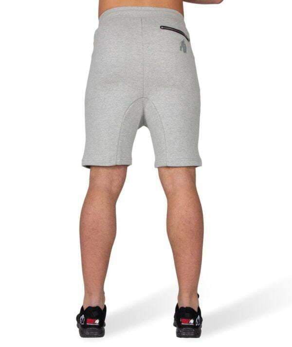 Pantaloni Scurti cu Tur Lasat Alabama - Gri - Echipamente fitness si bodybuilding