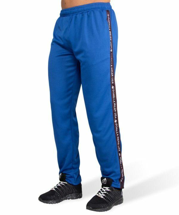 Pantaloni Trening Albastri Barbati din Plasa Gorilla Wear - Haine Sport