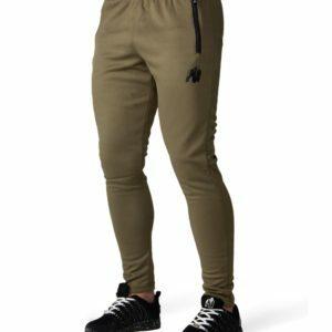 Pantaloni de trening barbati verde militar - Haine fitness