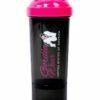 Shaker Compact 400 ML + 100 Gorilla Wear Negru Negru Roz - shaker dama