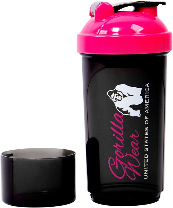 Shaker Compact 400 ML + 100 Gorilla Wear Negru Roz - Shaker Femei