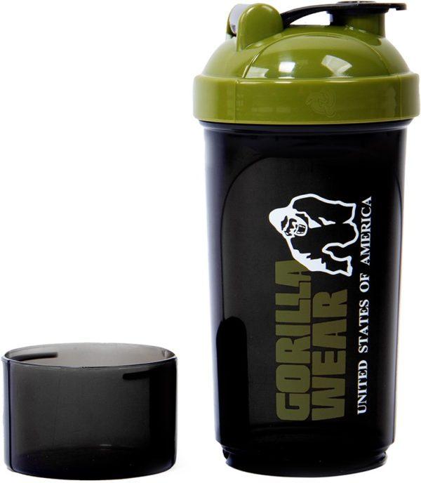 Shaker Compact 400 ML + 100 Gorilla Wear Negru Verde Militar - Shaker Sala