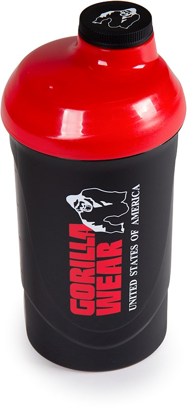 Shaker Fitness 600ML - Negru-Rosu