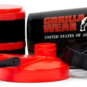 Shaker Proteine compartimentat Gorilla Wear - Accesorii Gorilla Wear Romaia