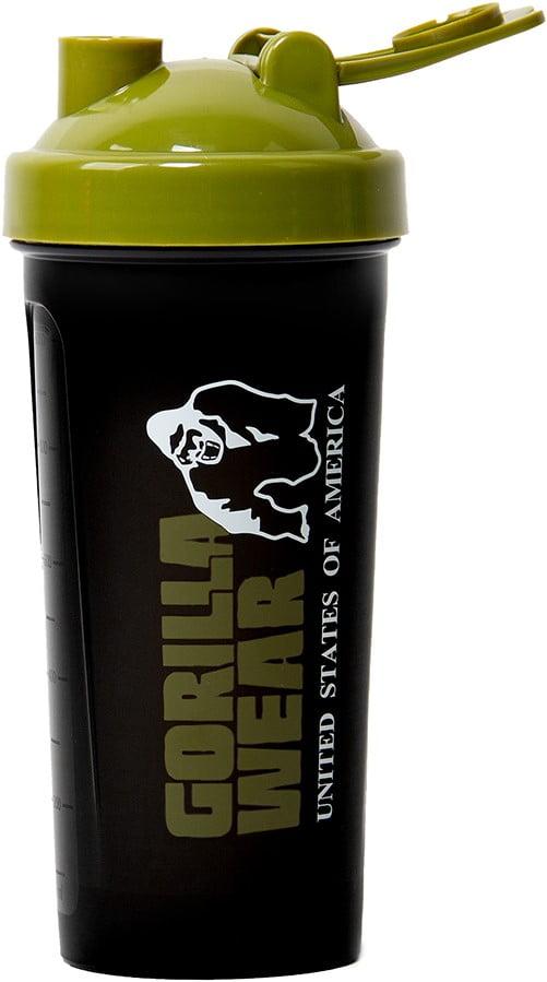 Shaker XXXL - 1000ML Gorilla Wear - Negru-Verde Shaker Proteine