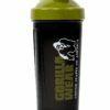 Shaker XXXL - 1000ML Gorilla Wear - Negru-Verde - Shaker Proteine