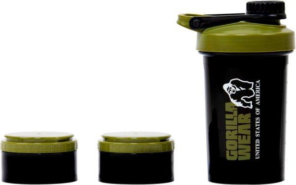 Shaker antrenament compartimentat verde cu negru