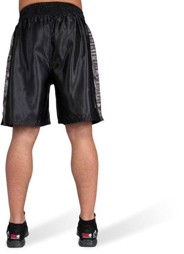 Pantaloni Box Vaiden Barbati - Negru cu logo gri