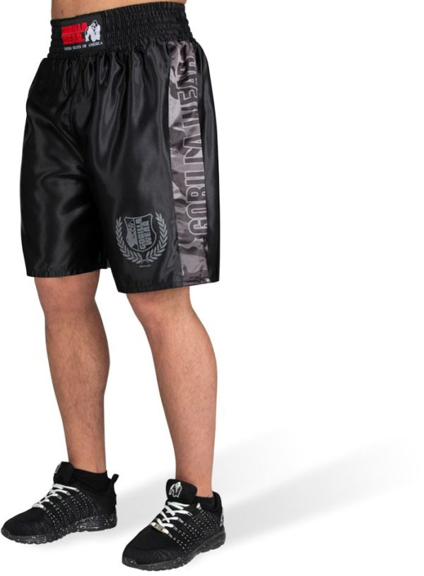 Pantaloni Box Vaiden Barbati - Negru lucios