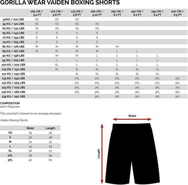Tabel marimi Pantaloni Box Vaiden Barbati - Negru Camo