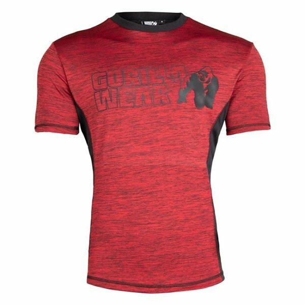 Tricou Barbati Austin - Negru cu rosu - GorillaWear