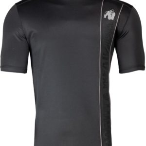 Tricou Barbati Fitness - Negru cu insertii gri