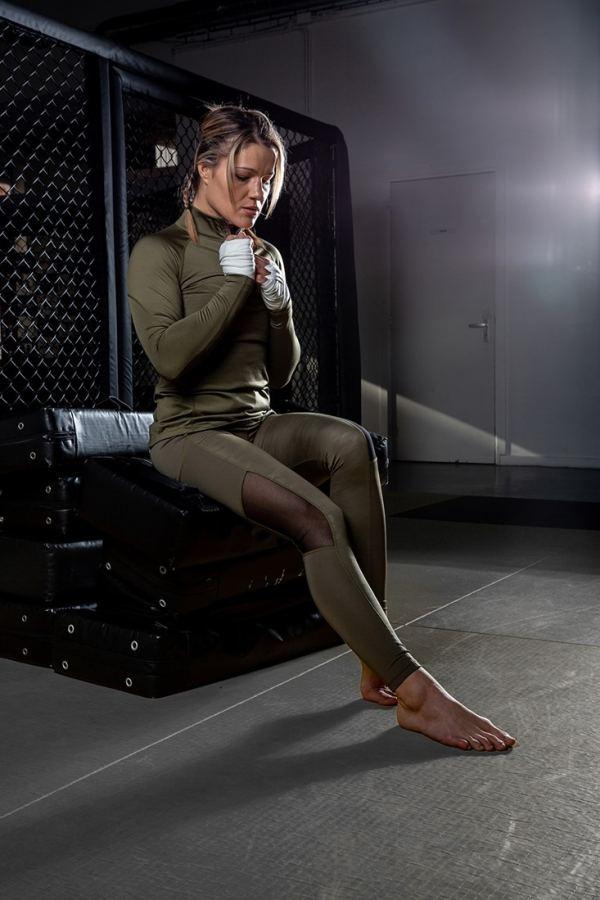 Colanti cu plasa Savannah - Verde Militar - Colanti Fitness