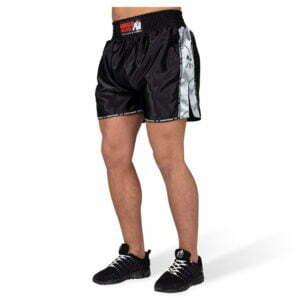 Pantaloni Henderson Muay Thai - Negru cu gri - Pantaloni Antrenament
