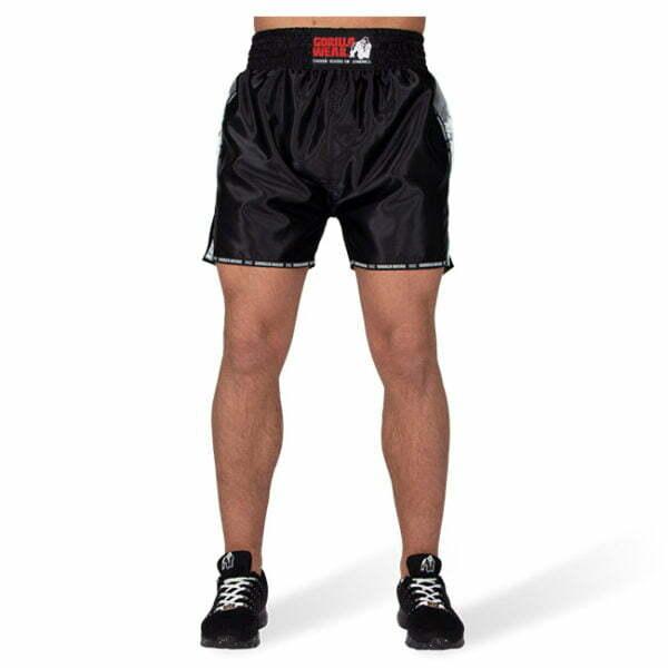 Pantaloni Henderson Muay Thai - Negru cu gri - Pantaloni Sala
