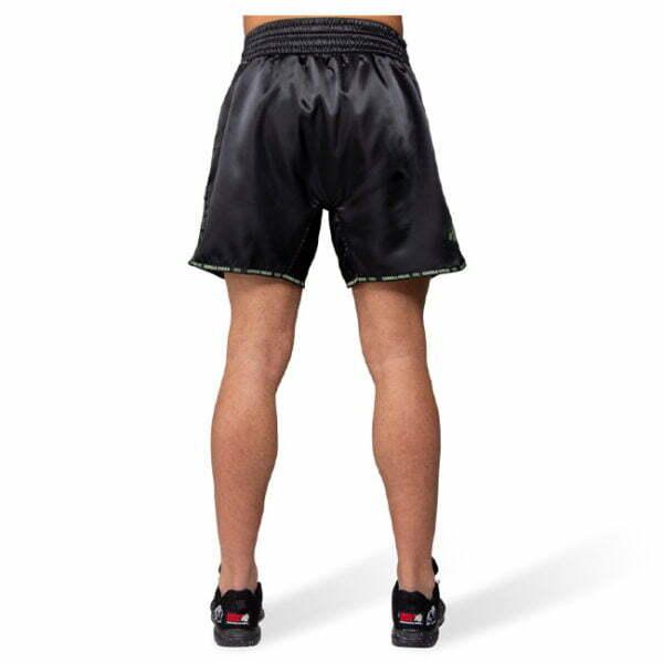 Pantaloni Muay Thai Murdo - Negru cu verde militar - Pantaloni Fitness