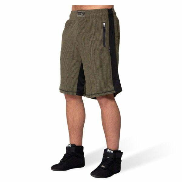 Pantaloni Scurti Barbati Augustine Old School - Verde Militar - Pantaloni Antrenament