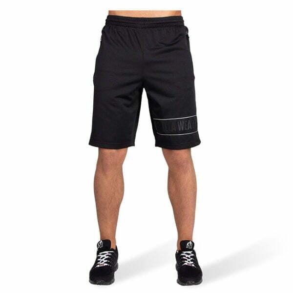 Pantaloni Scurti Barbati Branson - Negru cu gri - Pantaloni Antrenament