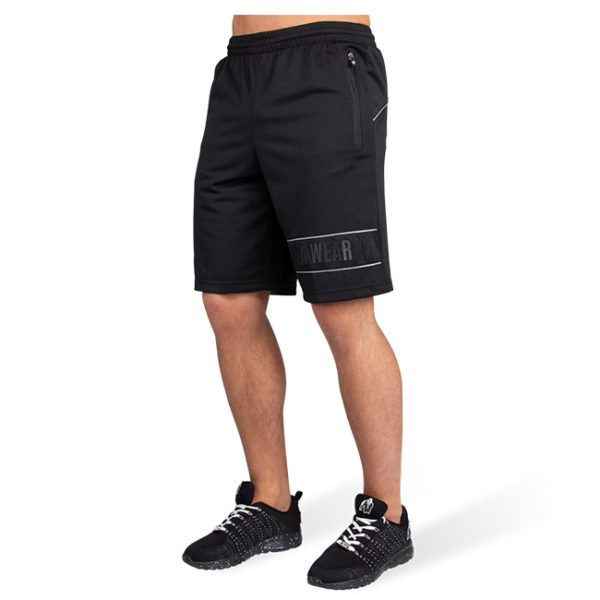 Pantaloni Scurti Barbati Branson - Negru cu gri - Pantaloni Fitness