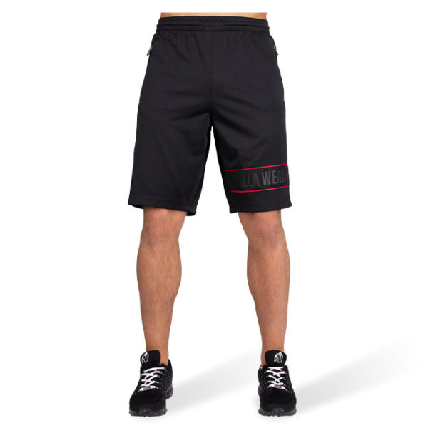 Pantaloni Scurti Barbati Branson - Negru cu rosu - Pantaloni Sala