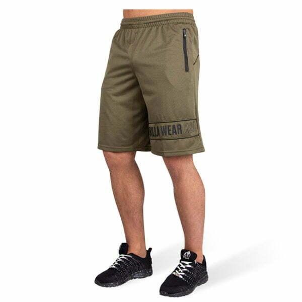 Pantaloni Scurti Barbati Branson - Verde Militar - Pantaloni Antrenament