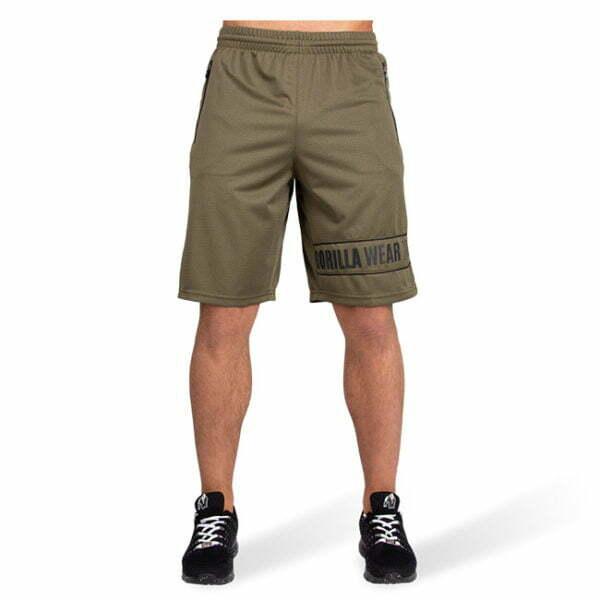 Pantaloni Scurti Barbati Branson - Verde Militar - Pantaloni GorillaWear