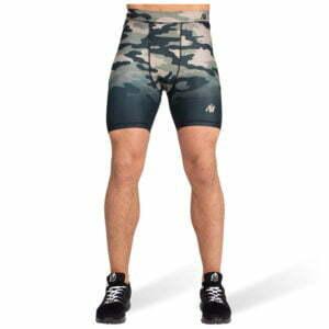 Pantaloni Scurti Barbati Franklin - Verde Militar Camuflaj - Pantaloni GorillaWear