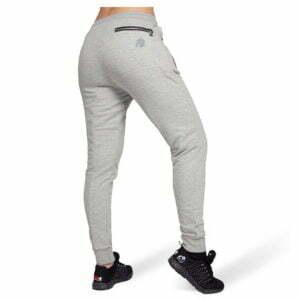 Pantaloni jogger cu tur lasat Celina - Gri - Pantaloni Antrenament