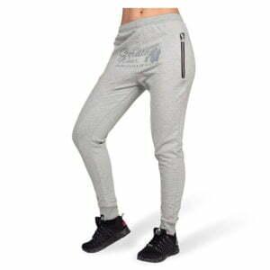 Pantaloni jogger cu tur lasat Celina - Gri - Pantaloni Fitness