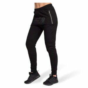 Pantaloni jogger cu tur lasat Celina - Negru - Pantaloni GorillaWear