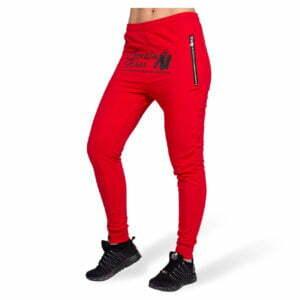 Pantaloni jogger cu tur lasat Celina - Rosu - Pantaloni Sport